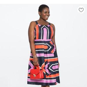 Eloquii Bold Geometric A-Line Dress